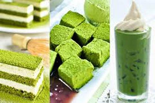 Bột trà xanh Thái Nguyên có thể làm rất nhiều món ngon