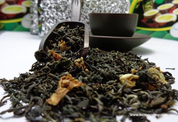 Cánh trà ướp  hương lài tự nhiên sau khi sản xuất