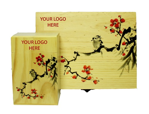 Hộp quà tặng khắc logo doanh nghiệp