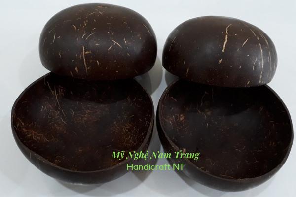 Bát gáo dừa 20k mua 20 cái Tặng 10 đôi đũa - Mỹ Nghệ Dừa Nam Trang