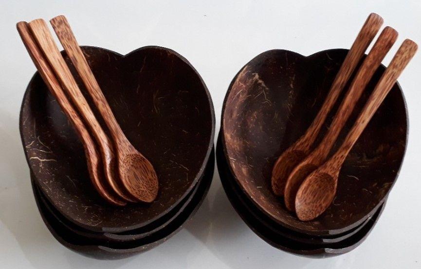 Dĩa trái tim gáo dừa mỹ nghệ - Mỹ Nghệ Nam Trang