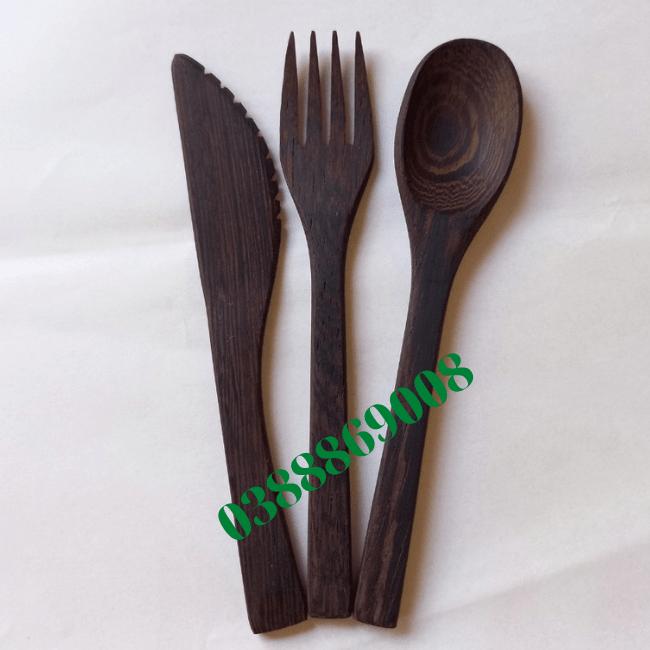 Thìa gỗ mun 16cm loại 1 xuất khẩu