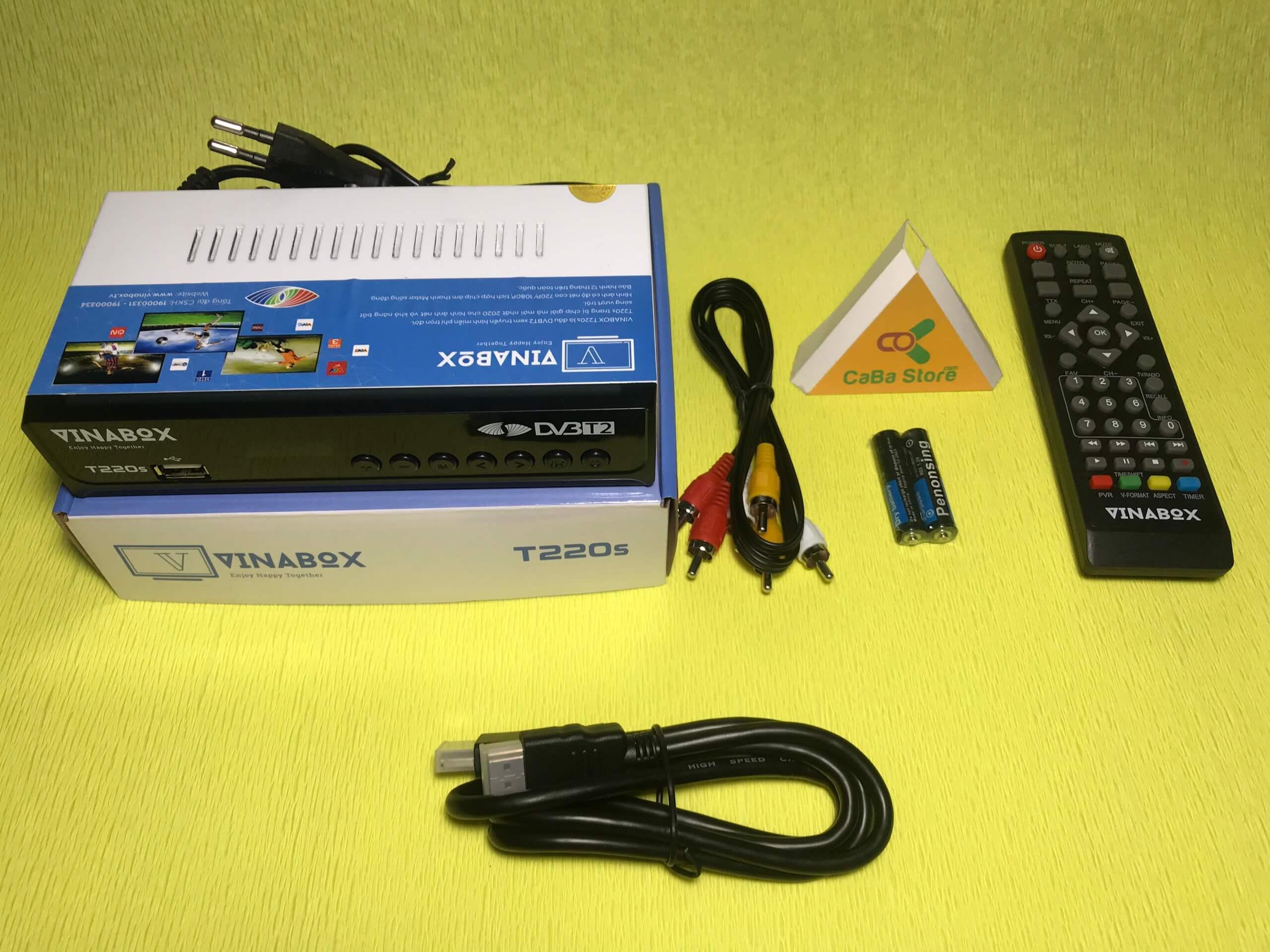 Đầu thu mặt đất Vibabox T220s + Dây HDMI 1m | Giao hàng miễn phí