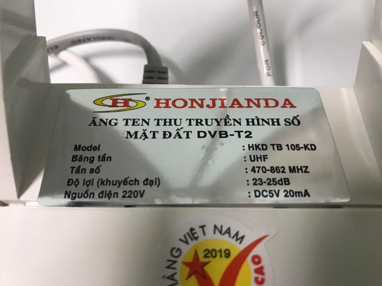 Anten Tàu Bay TB105-KD có khuếch đại - Để bàn - Gắn tường