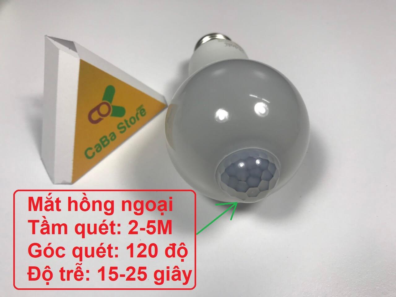 Bóng đèn cảm ứng nhiệt 9W-Tự sáng khi có người đến gần | CaBa Store