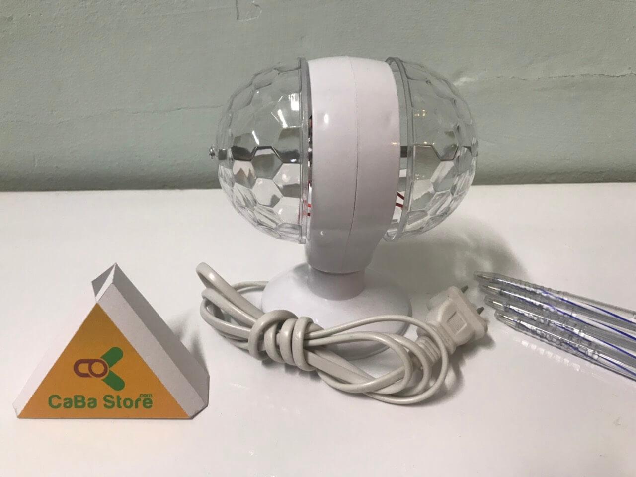 Led vũ trường 2 quả cầu quay - Màu đa sắc rực rỡ