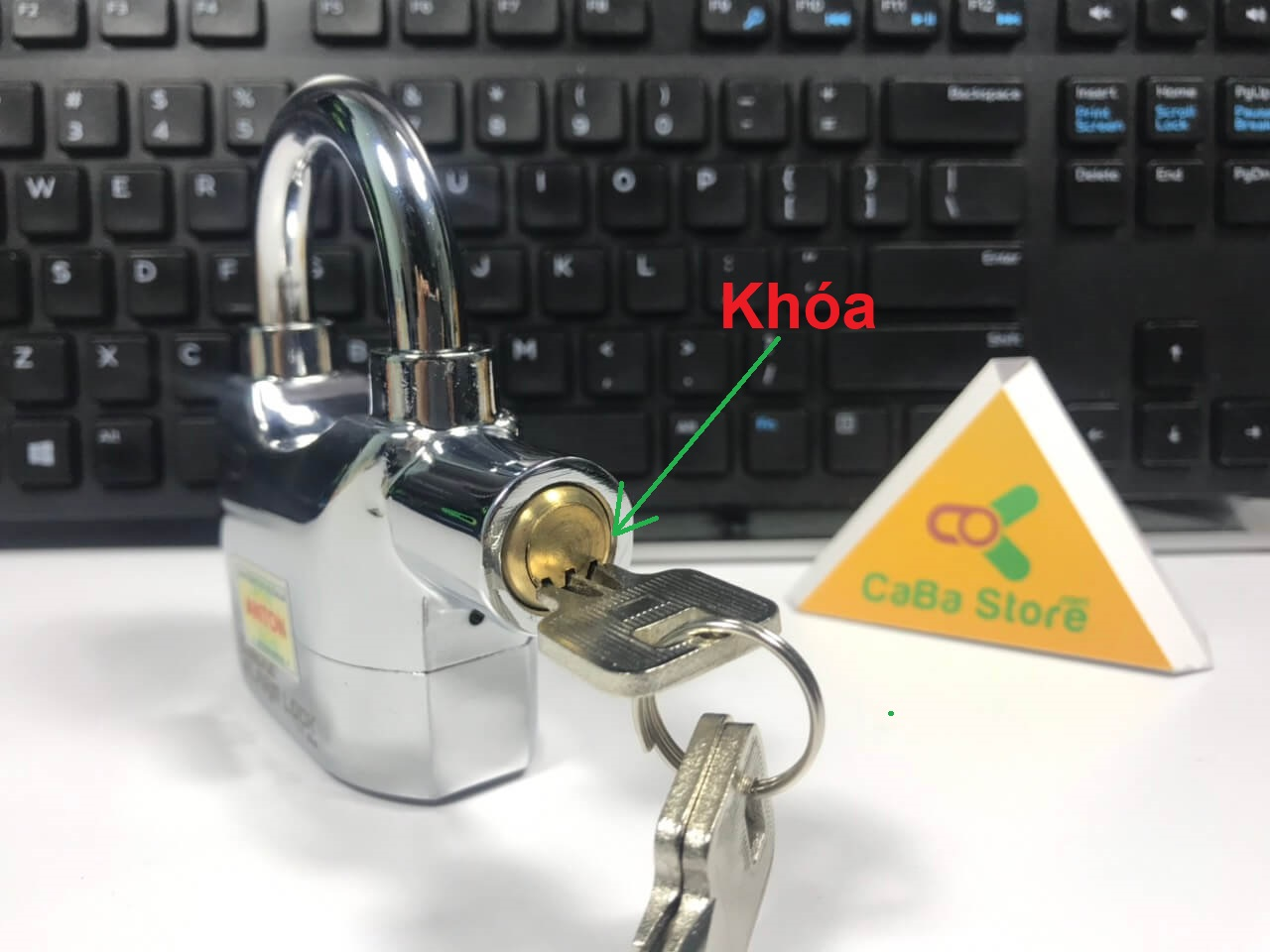 Ổ khóa chống trộm báo động Kinbar 110dBA | CaBa Store