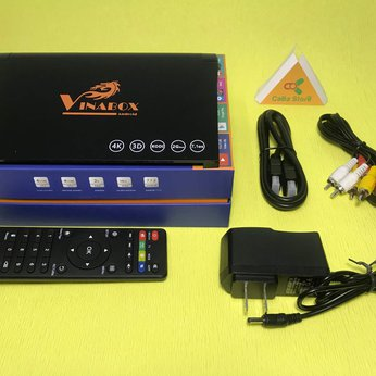 Android TV Box Vinabox X9 | Android 7.1.2 Nougat - RAM 2GB - Tìm kiếm qua giọng nói | Giao hàng miễn phí