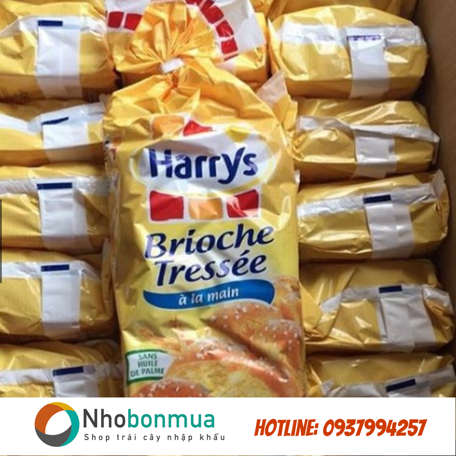 Bánh mì hoa cúc Pháp Harrys Brioche Tressee mini 210 gram