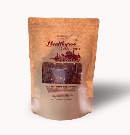 Nho khô nguyên cành Gold sultanas healthyroo túi 500 gram