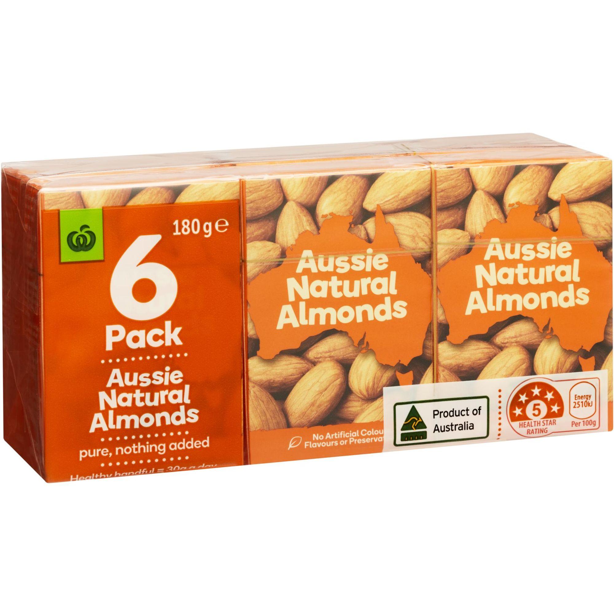Hạnh nhân tự nhiên Úc Hộp 6 gói x 30 gram