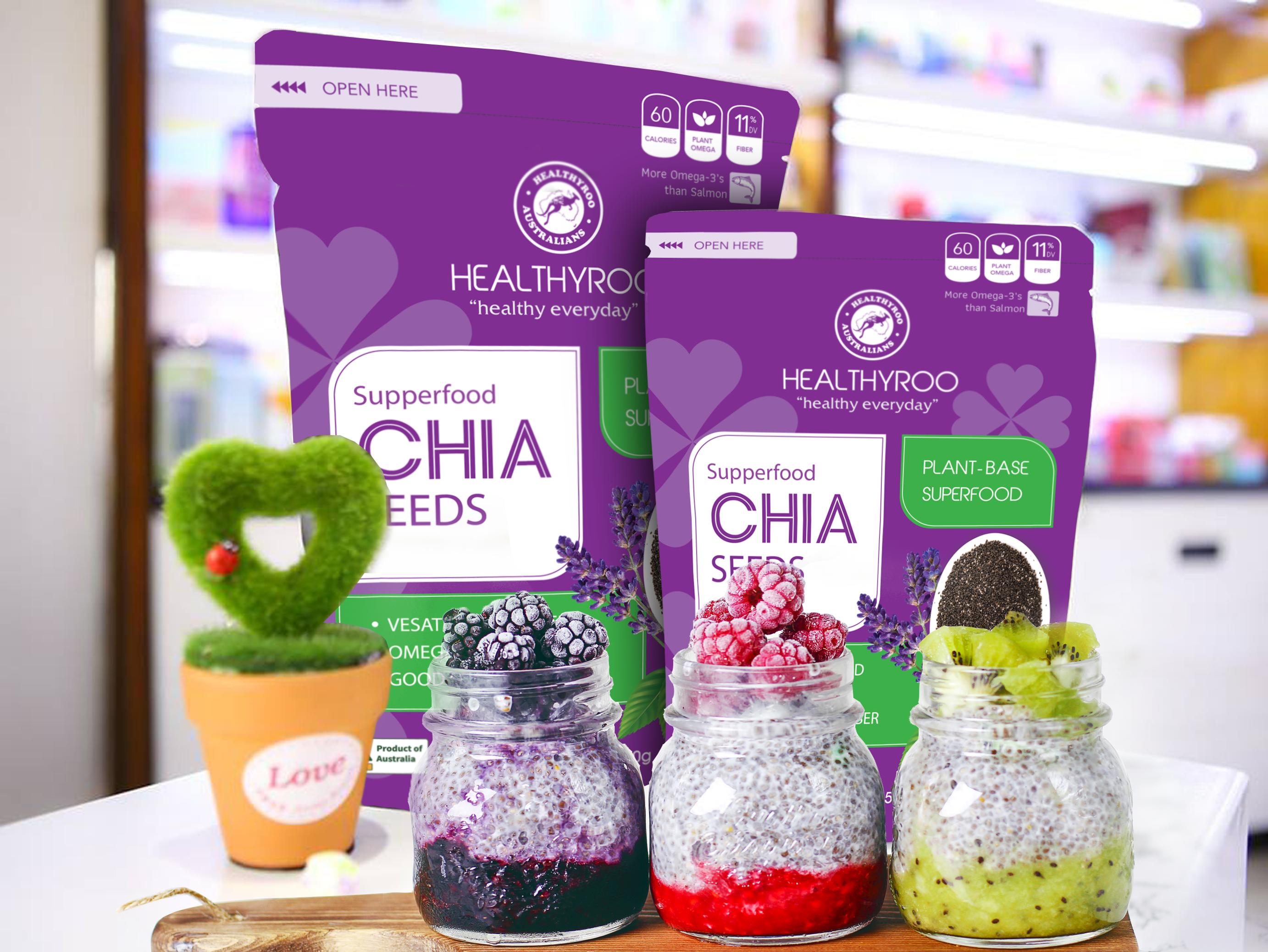 Hạt chia úc healthyroo gói 500 gram ShopNhobonmua - Giảm cân hiệu quả, tiết kiệm hơn 10%