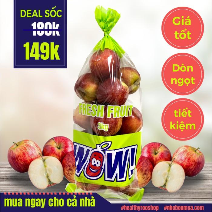 No.1 - Táo túi 3kg Mỹ hiệu wow (không phải nam phi)