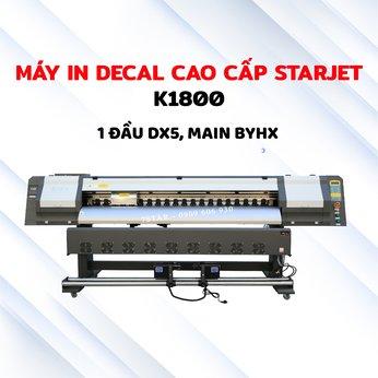 Máy in decal canvas hộp đèn cao cấp STARJET K1800