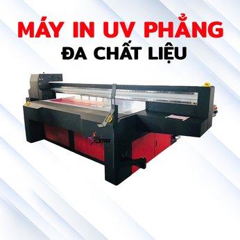 Máy in UV phẳng đa chất liệu
