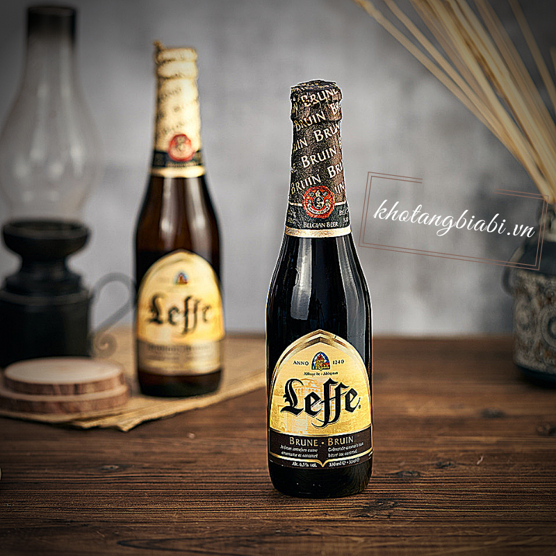 BIA ĐEN LEFFE BRUNE  6,5% 330ML I Bia phổ thông trung cấp xuất xứ từ Bỉ