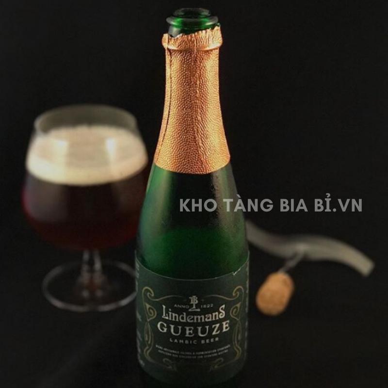 Bia chua Lindemans Gueuze 5% - Bia truyền thống kinh điển của Bỉ ủ từ thùng gỗ sồi!
