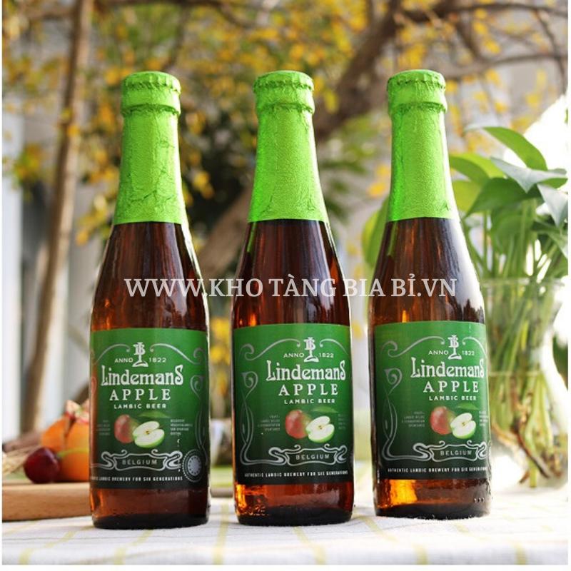 Bia táo truyền thống Lindemans Apple 3,5% I Giải thưởng bia Trái cây Lambic Ngon nhất châu Âu 2013 World beer Awards