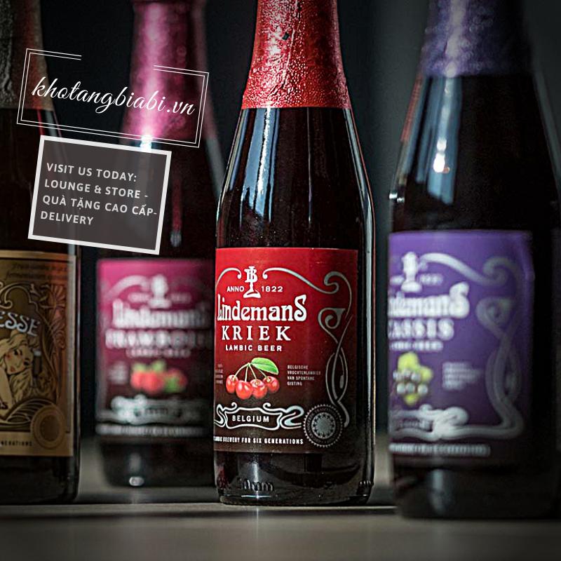 Bia cherry Lindemans Kriek 3,5% - Niềm tự hào của gia tộc Lindemans!