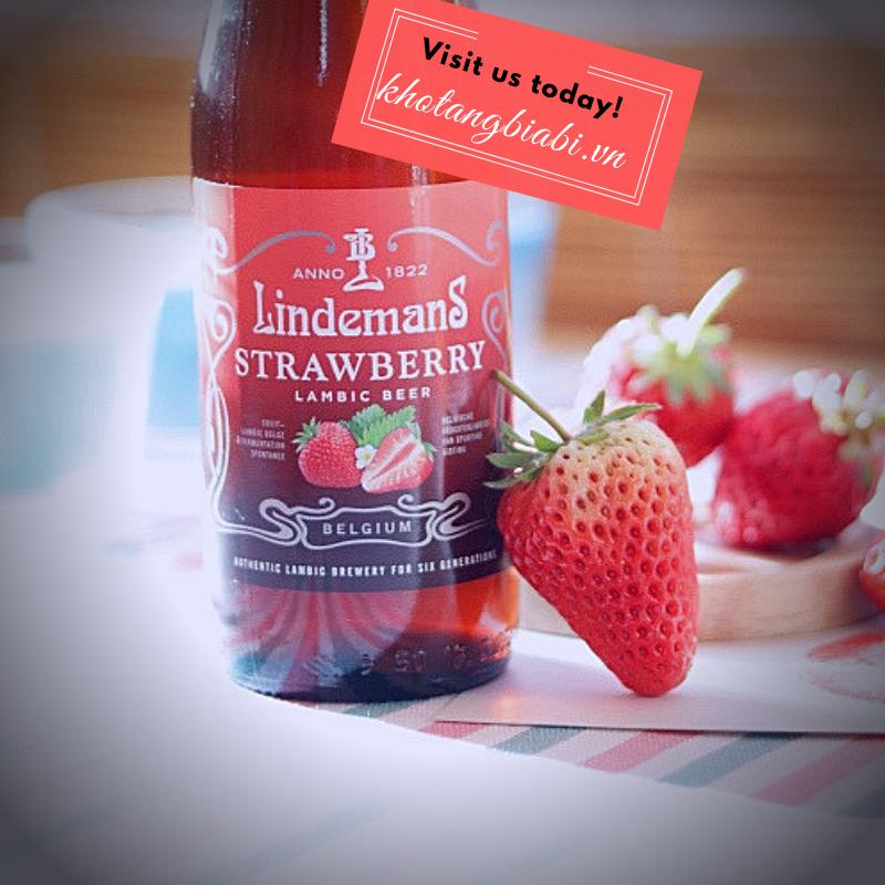 Lindemans Strawberry 4,1% - Bia dâu tây khuấy đảo cộng đồng yêu bia thủ công thế giới!