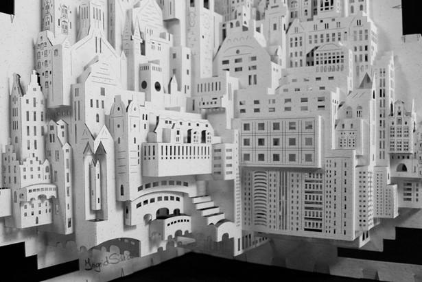 Có nhiều nghệ sĩ, kiến trúc sư đã thành công với mô hình kiến trúc bằng giấy