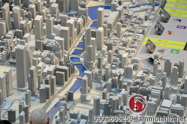 Trung tâm thành phố Chicago được thể chi tiết với kết cấu hoàn thiện