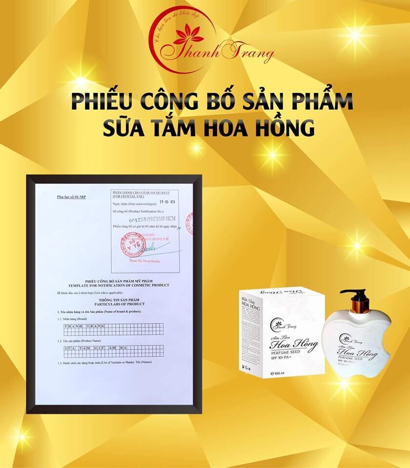 Sữa Tắm Hoa Hồng Thanh Trang