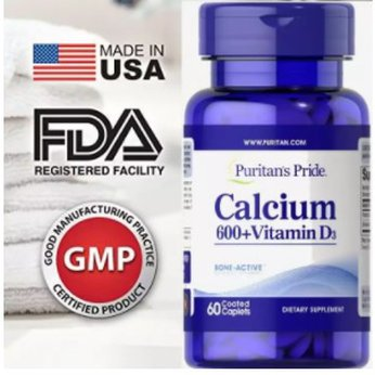 Viên uống bổ sung Canxi và Vitamin USA
