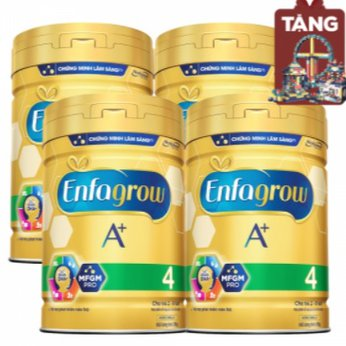 Combo 4 lon Sữa Enfagrow A+ 4 830g (2-6 tuổi) tiết kiệm 35,000đ