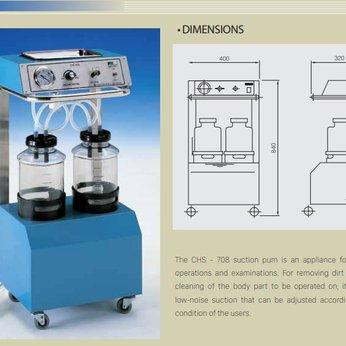 Máy hút dịch 2 bình CHS-708