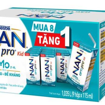 Sữa dinh dưỡng pha sẵn Nestlé khuyến mãi