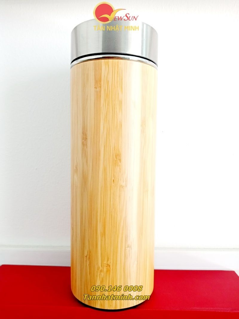 Bình giữ nhiệt gỗ làm quà tặng 5