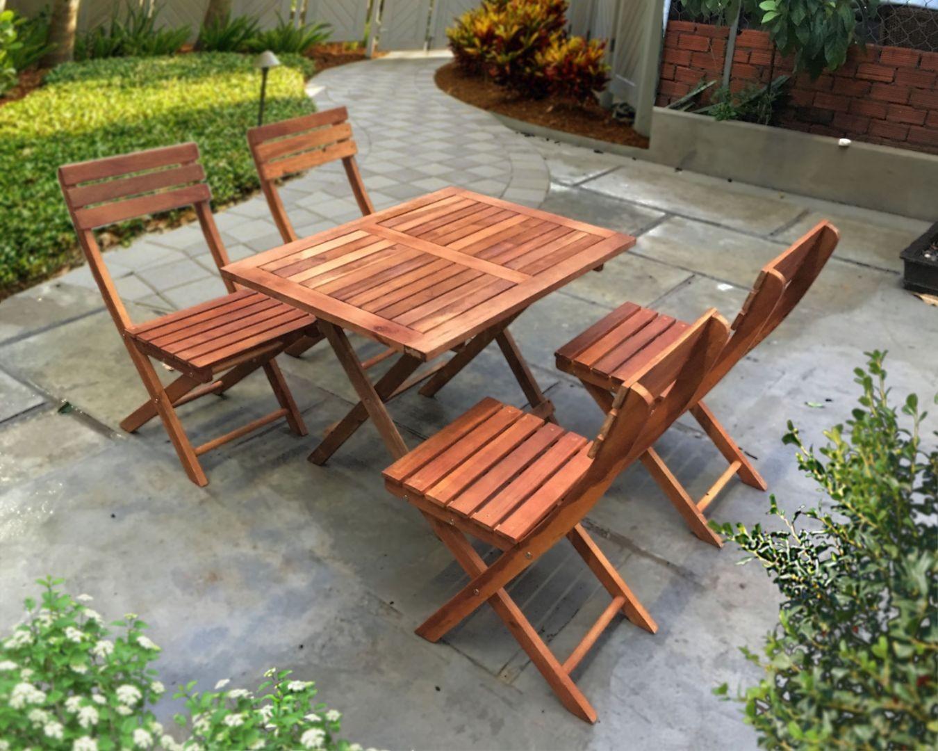 Bàn ghế xếp quán ăn 60x80xH60cm