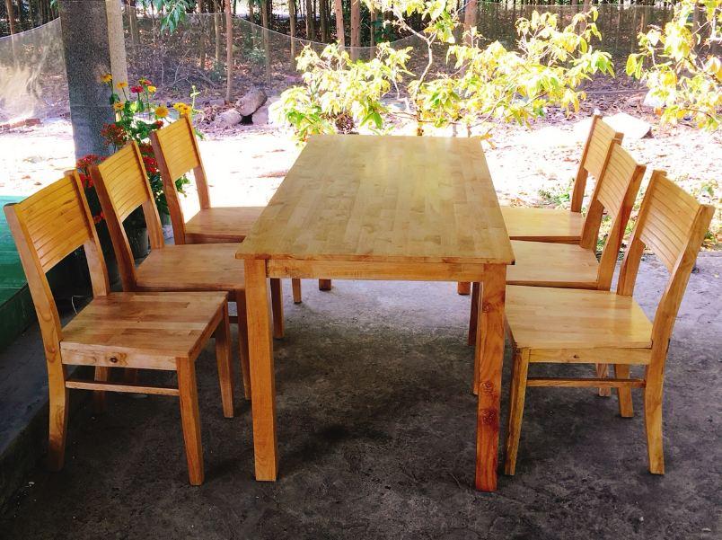 Bàn ghế ăn Cherry 1m6 (6 ghế)