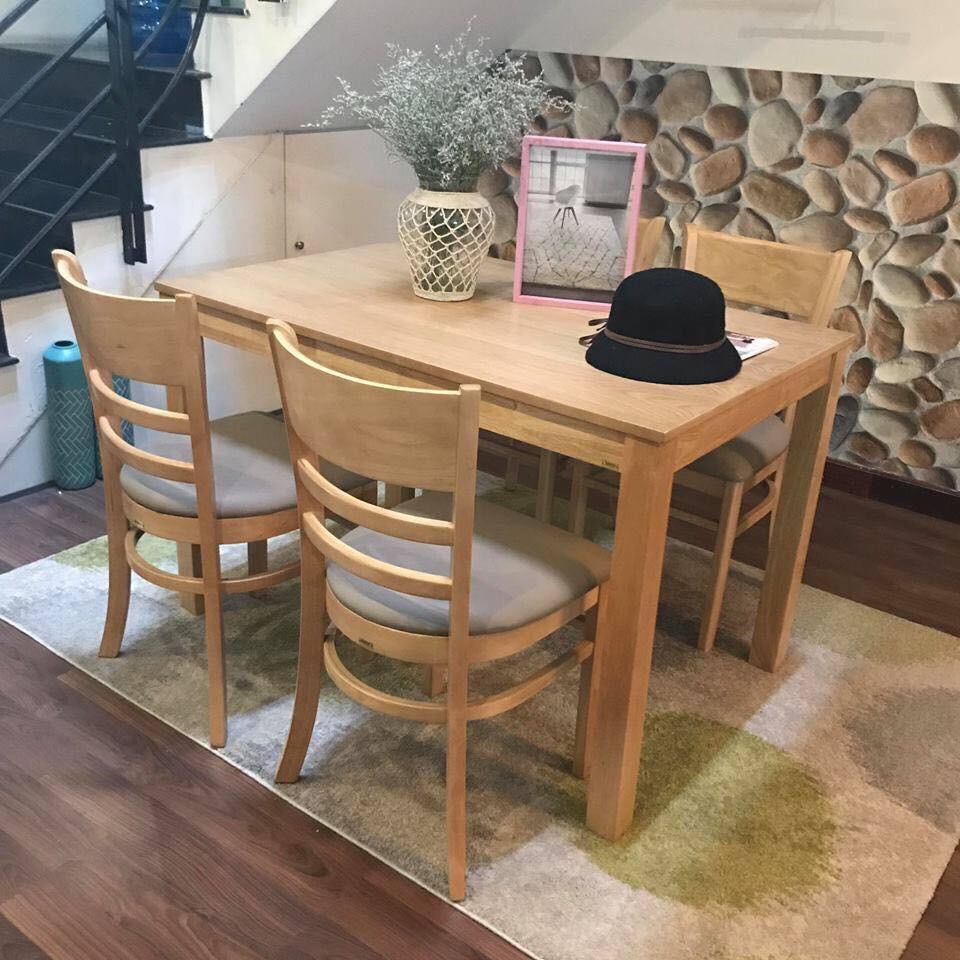Bàn ghế ăn Cabin 1m2 (4 ghế)