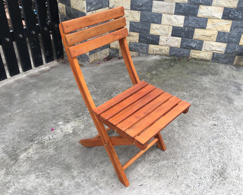 Bàn ghế gỗ xếp chữ nhật 60x80xH60cm- Wooden Folding Table Set HT-004A