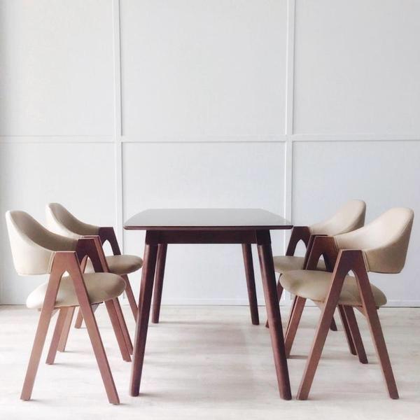 Bàn ghế ăn Chữ A 1m2 (4 ghế)