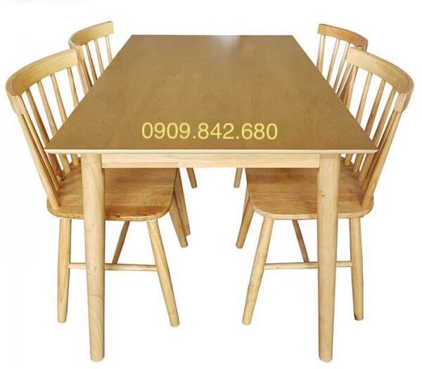 Bàn ghế ăn Song Tiện 1m2 (4 ghế)