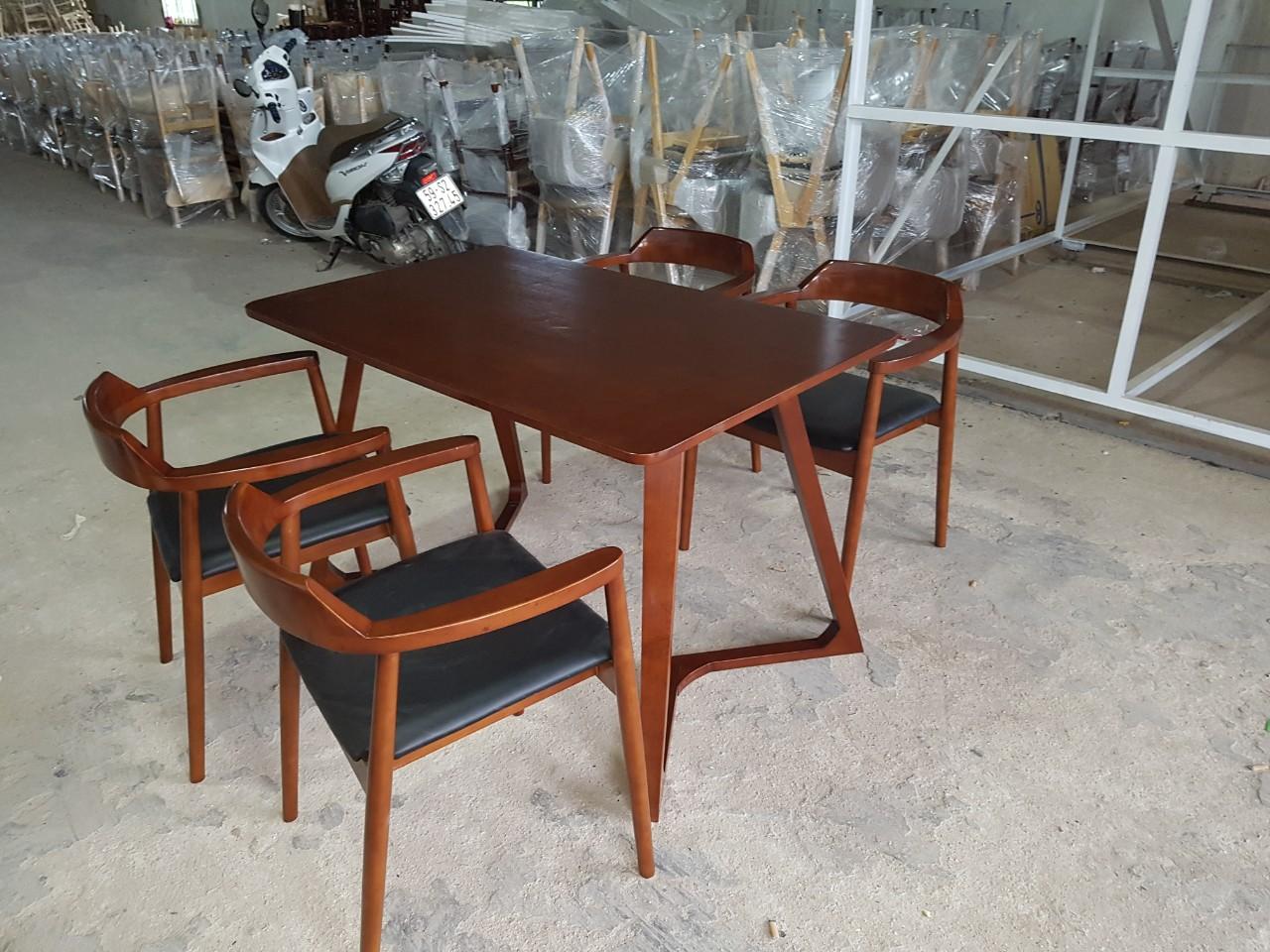 Bàn ghế ăn Hiroshima 1m2 (4 ghế)