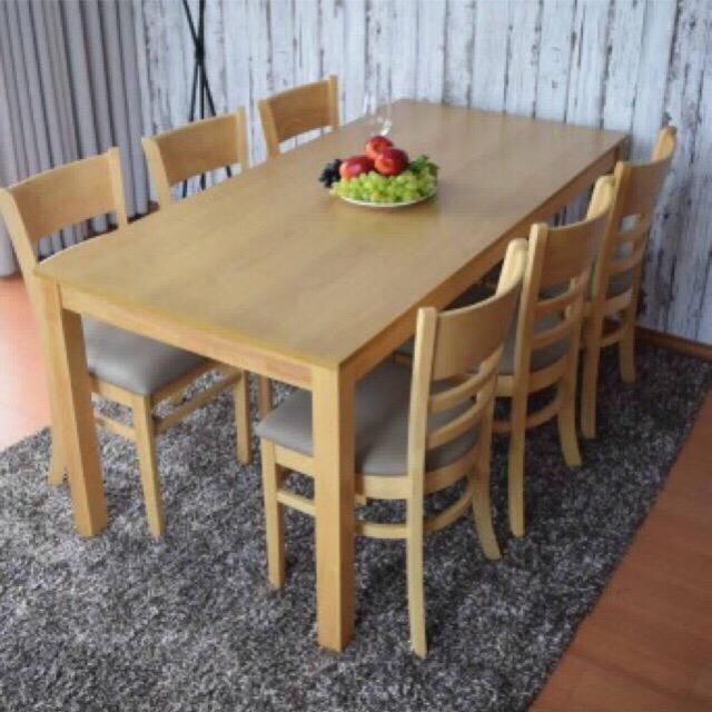 Bàn ghế ăn Cabin 1m6 (6 ghế)