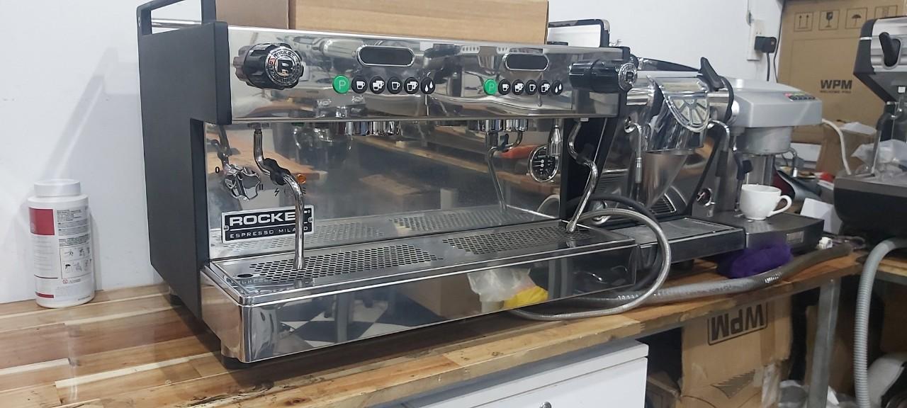 Bán máy pha cà phê cũ Espresso Rocket Boxer 2 group nhập khẩu Ý.