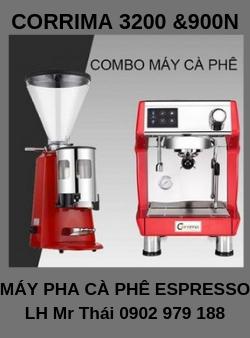 Máy Pha Cà Phê Espresso CORRIMA 3200 và Máy Xay Cafe Hạt 900N.