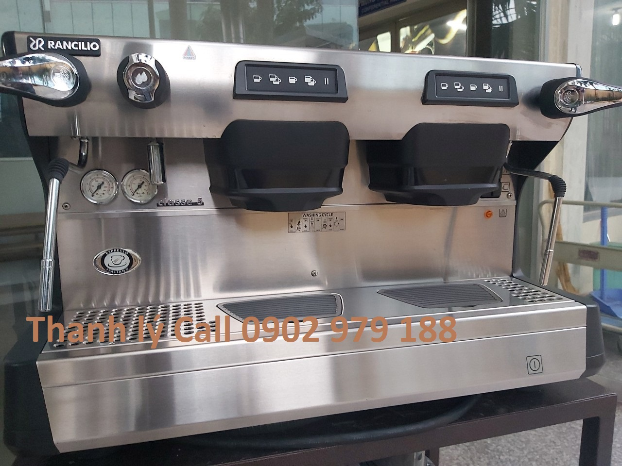 Máy pha cà phê Rancilio cũ 2 group thanh lý giảm gần 50tr.