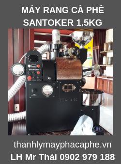 Máy Rang Cà Phê Chuyên Nghiệp Santoker 1.5kg.
