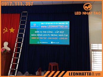 Màn hình LED P3 tại UBND xã Tân Tập