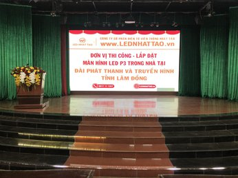 Thi công 20m2 màn hình LED P3 tại Đài Phát Thanh Truyền Hình tỉnh Lâm Đồng
