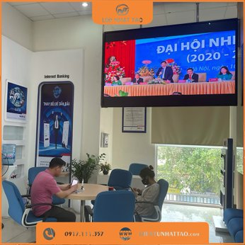 Màn hình LED P2 trong nhà tại ngân hàng BIDV Phú Mỹ