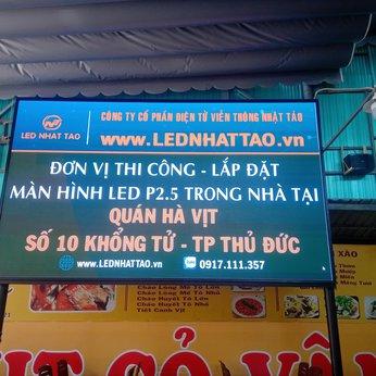 Màn hình LED P2.5 trong nhà tại Quán Hà Vịt, Thủ Đức
