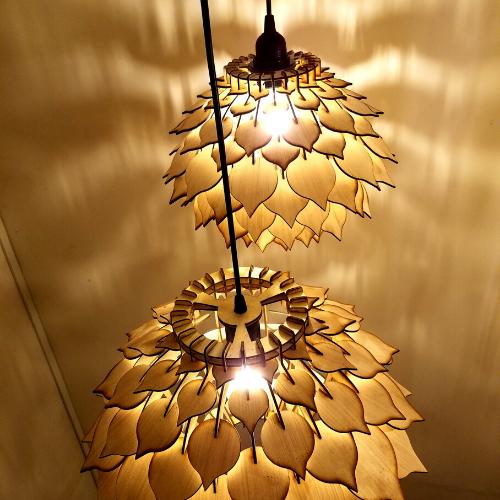 Đèn gỗ trang trí bông ASTISO LS 002