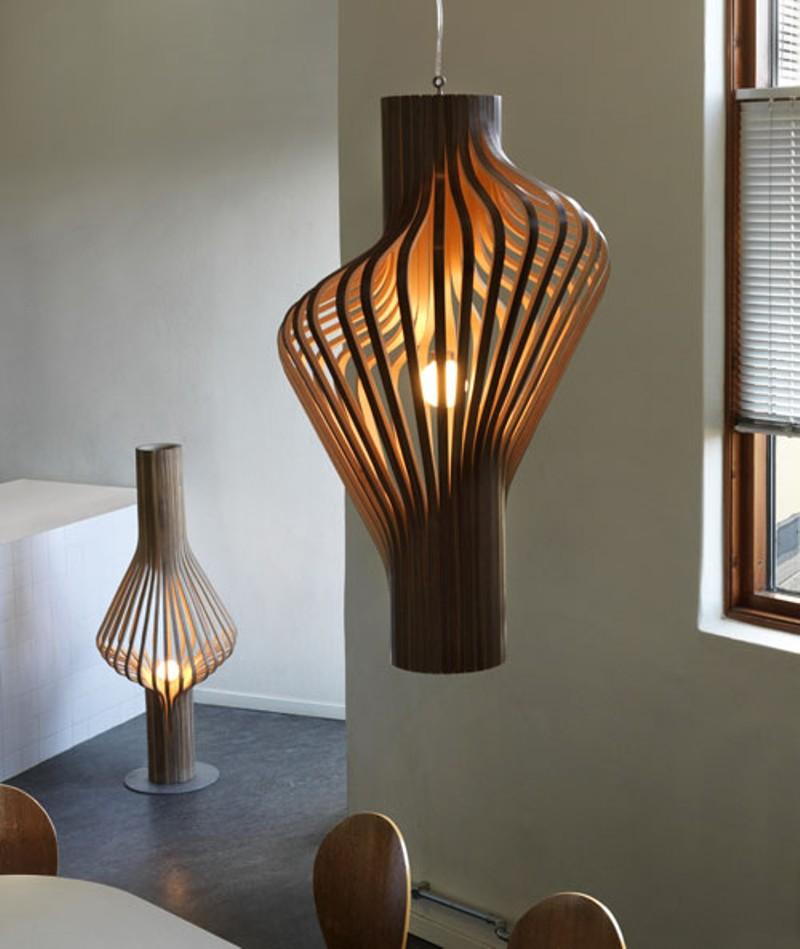 Đèn gỗ trang trí tạo hình ống 3D HAT003
